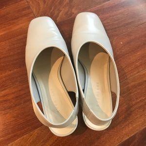 Everlane Shoes - Everlane Square Toe Slingback Color Grey